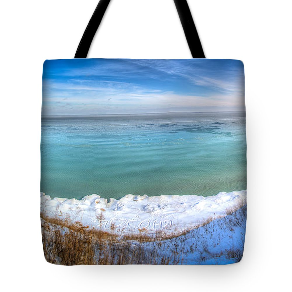 Cream City Flickr Group Tote Bag featuring the photograph Panning Lake Michigan by Andrew Slater