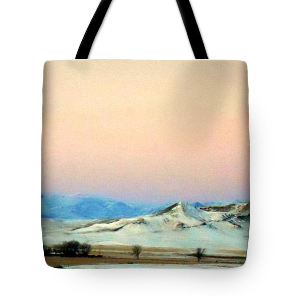 Panoramic Mountain Sunrise Tote Bag featuring the photograph Panoramic Mountain Sunrise by Desiree Paquette