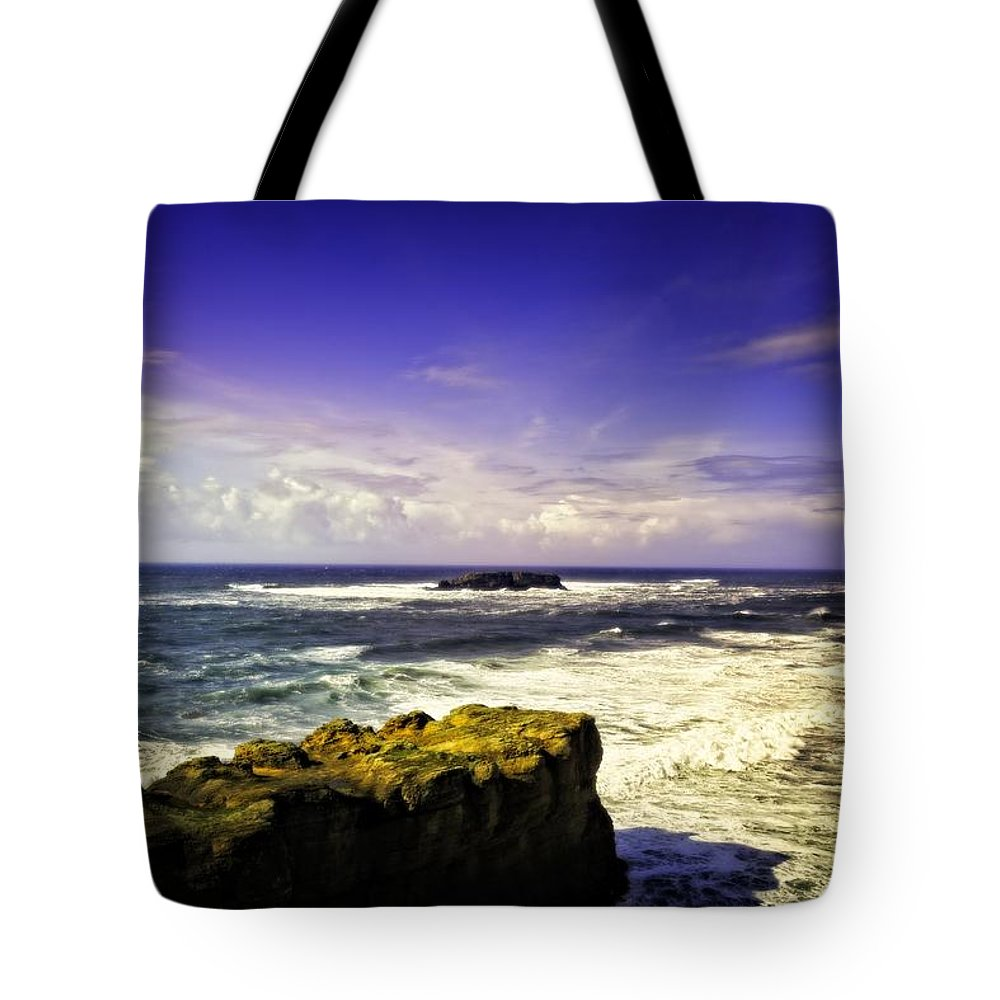 Otter Rock Tote Bag featuring the photograph Panoramic View Of The Pacific Ocean by Image Takers Photography LLC - Carol Haddon