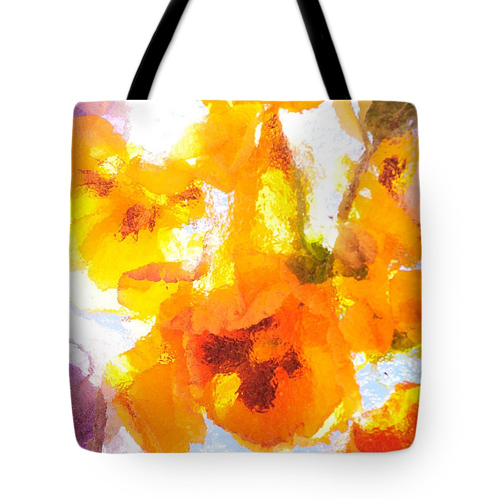 Flowers Tote Bag featuring the photograph Pansy Flowers by Joe Mamer