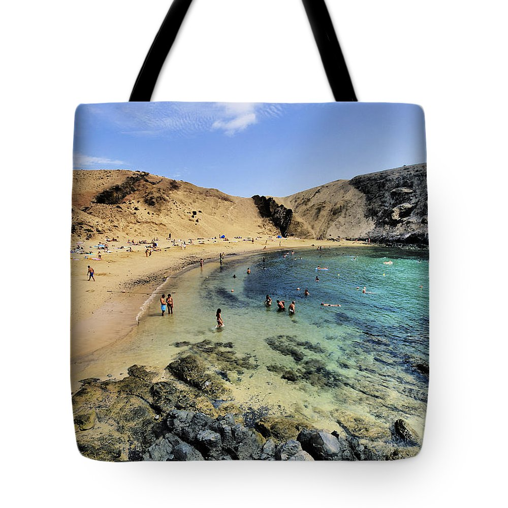 Bay Tote Bag featuring the photograph Papagayo Beach On Lanzarote by Karol Kozlowski