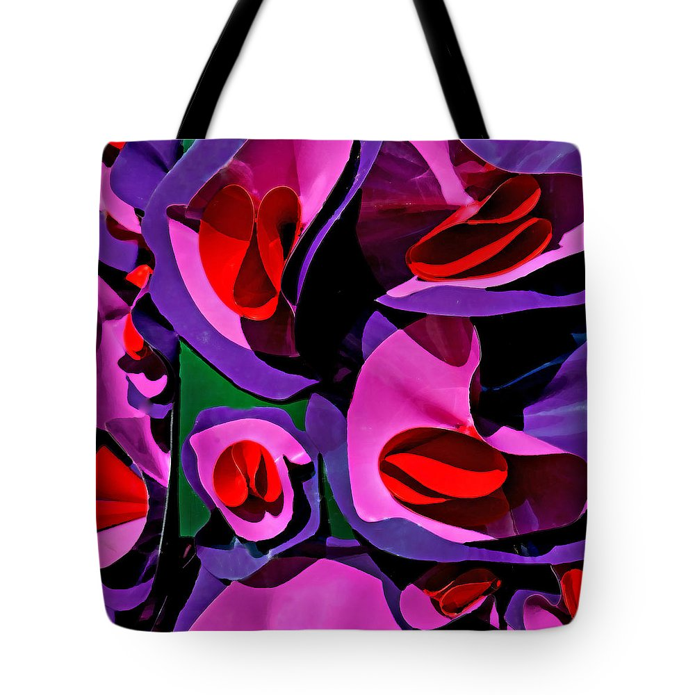 Paper Flowers Tote Bag featuring the photograph Paper Flowers by Art Block Collections