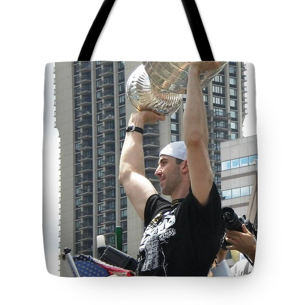 Boston Bruins Tote Bag featuring the photograph Parade Of Champions by Lisa Kilby