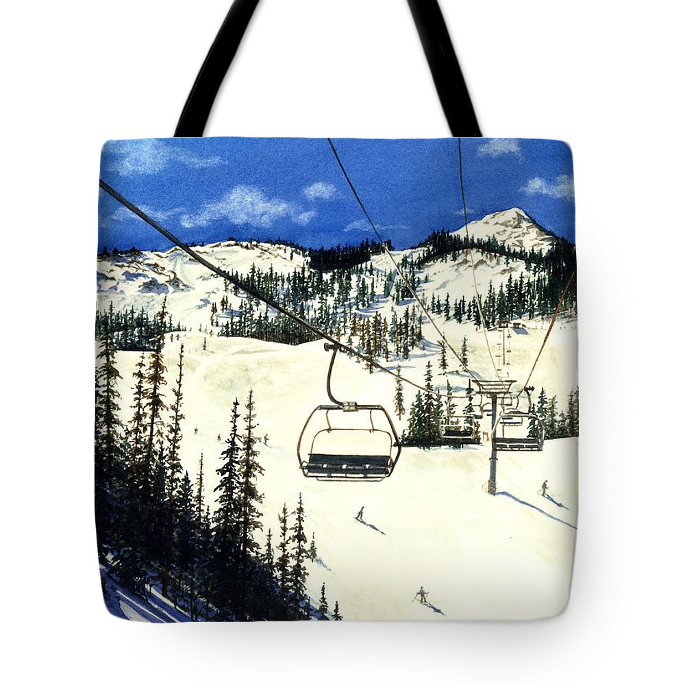Water Color Paintings Tote Bag featuring the painting Paradise Bowl by Barbara Jewell