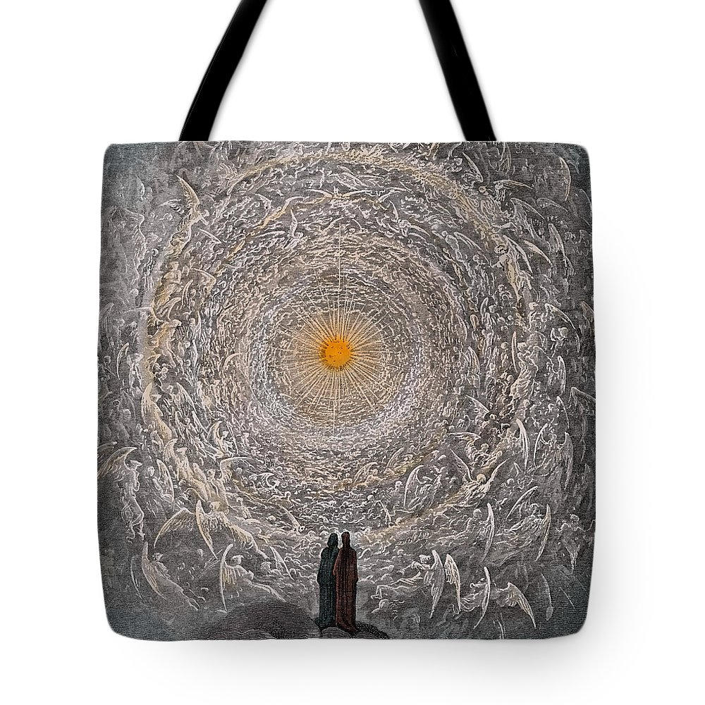 The Tote Bag featuring the painting Paradise Canto Thirty One by Gustave Dore