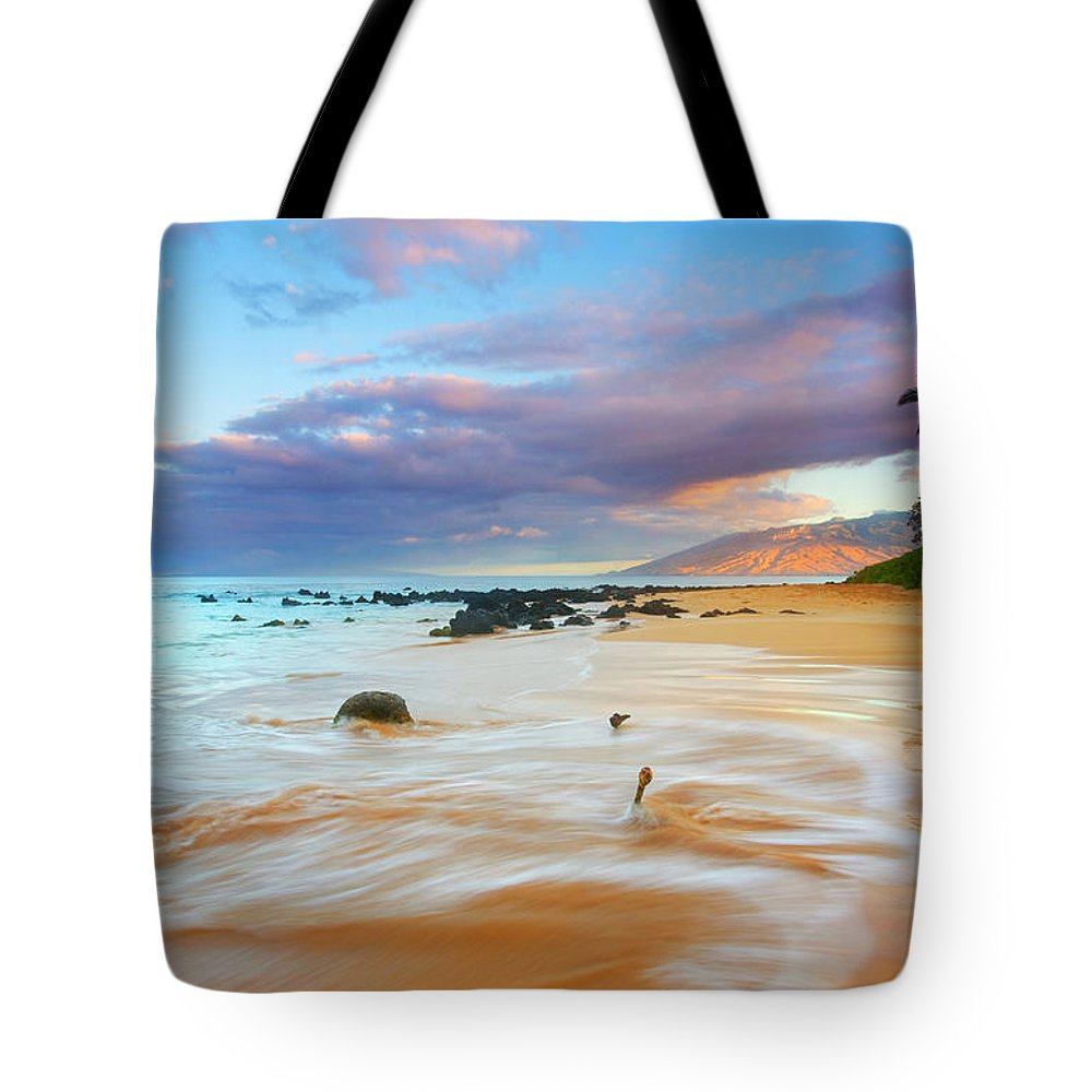 Sunrise Tote Bag featuring the photograph Paradise Dawn by Mike Dawson