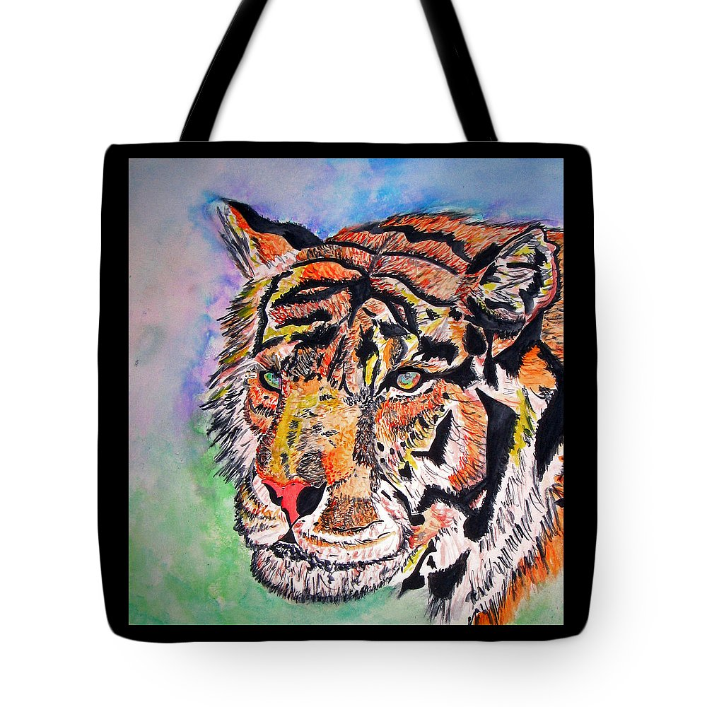 Abstract Tote Bag featuring the painting Paradise Dream by Crystal Hubbard