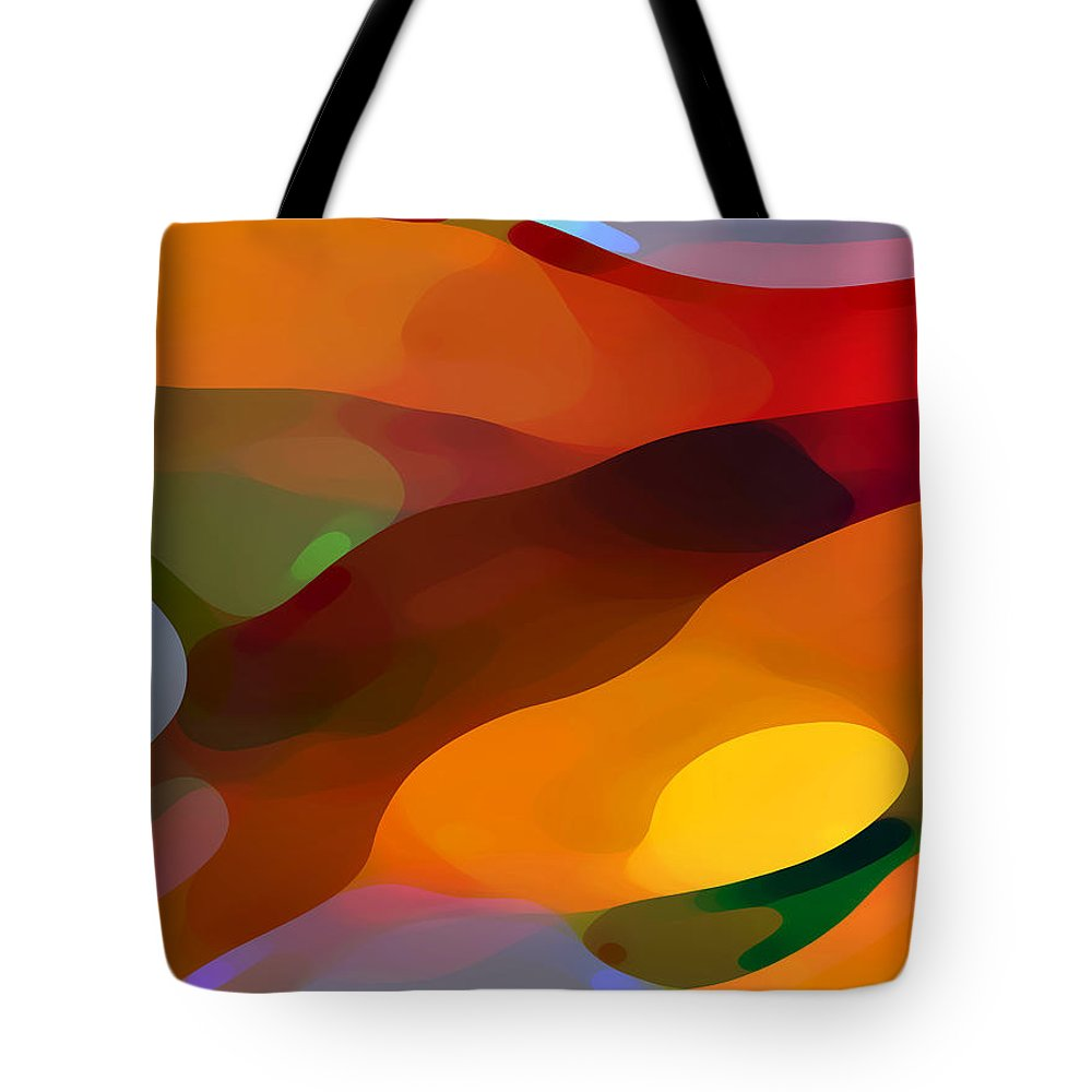 Abstract Tote Bag featuring the painting Paradise Found by Amy Vangsgard