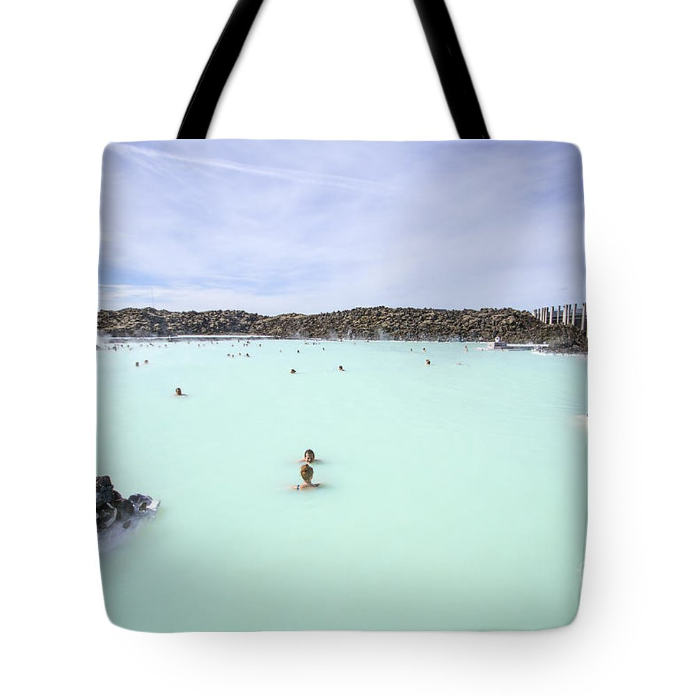 Blue Lagoon Tote Bag featuring the photograph Paradise - Found by Evelina Kremsdorf