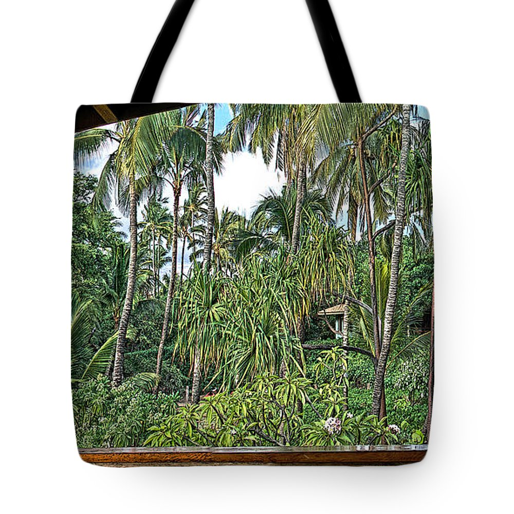 Dan Sabin Tote Bag featuring the photograph Paradise Patio by Dan Sabin