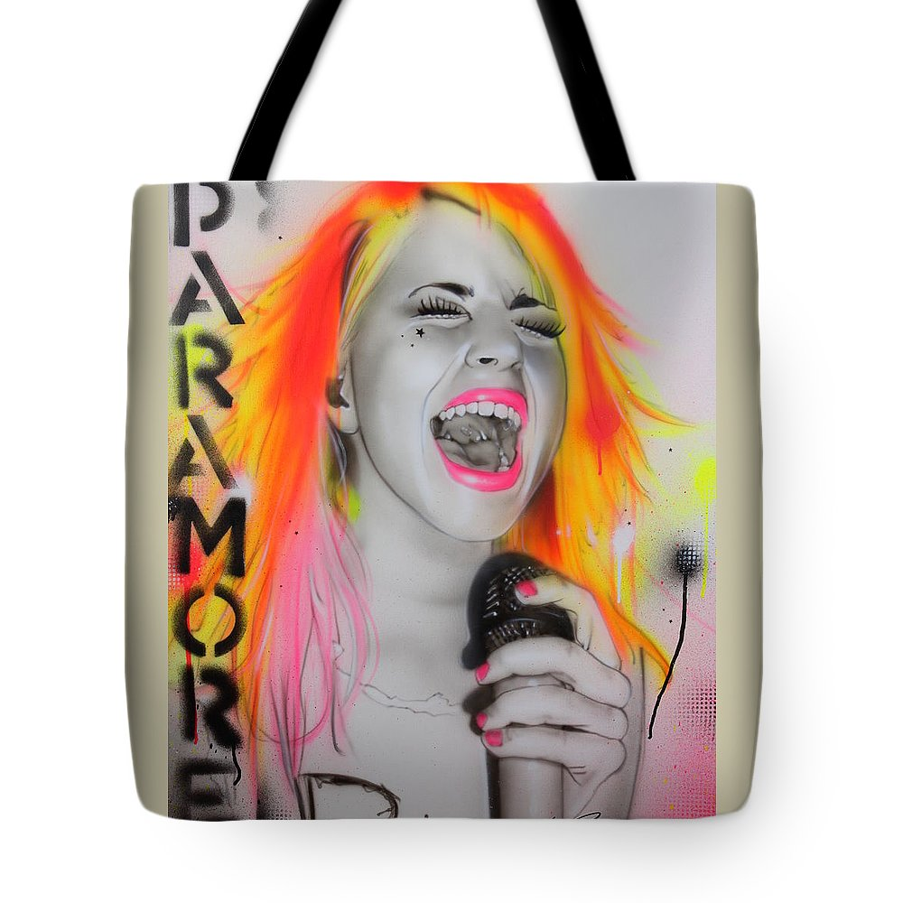 Paramore Tote Bag featuring the painting Paramore by Christian Chapman Art