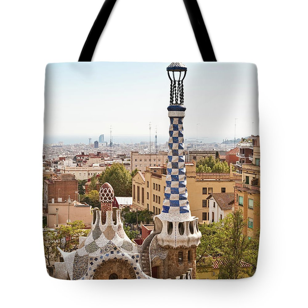 Antoni Gaudí Tote Bag featuring the photograph Parc Guell By Antoni Gaudi, Barcelona by John Harper
