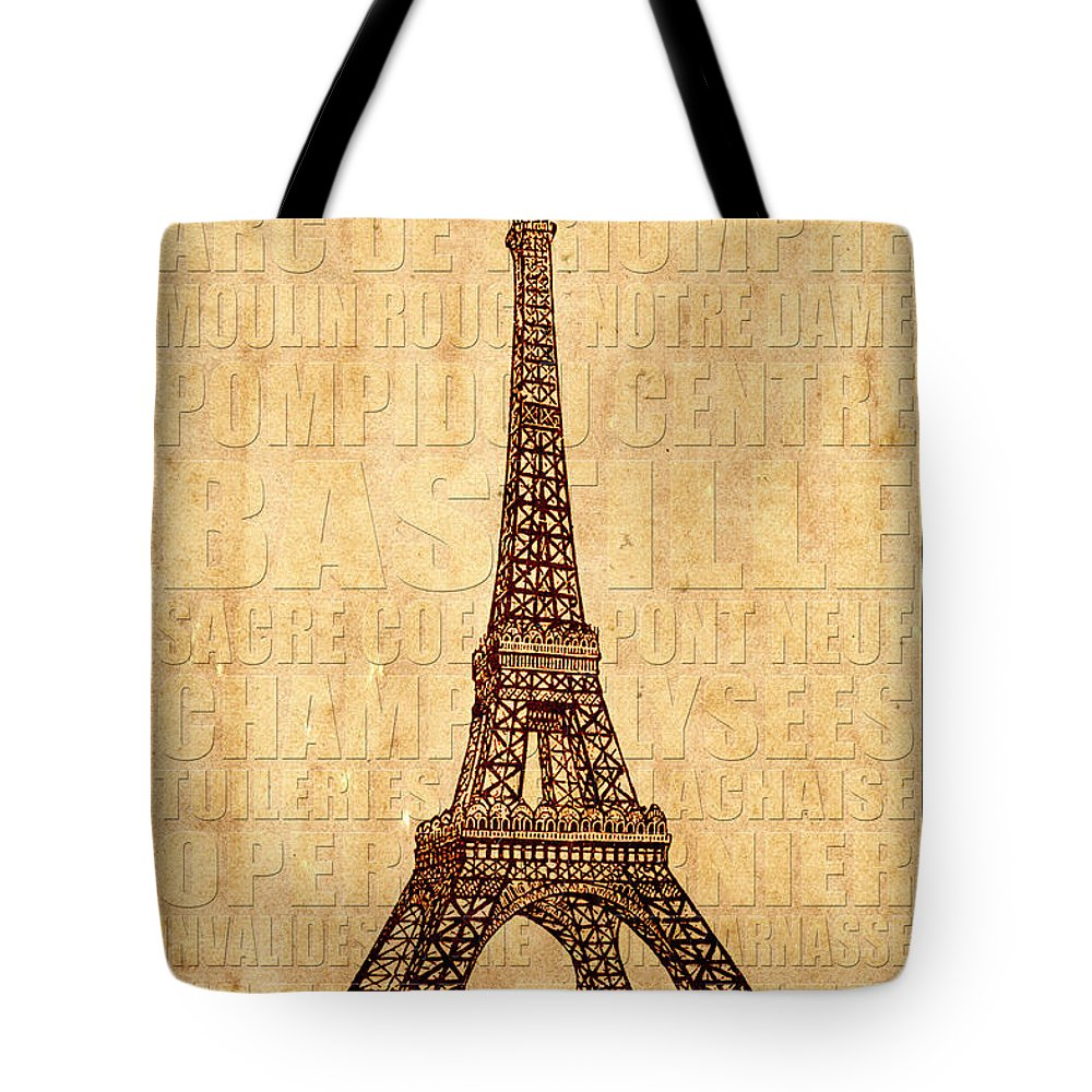 Paris Tote Bag featuring the photograph Paris by Andrew Fare