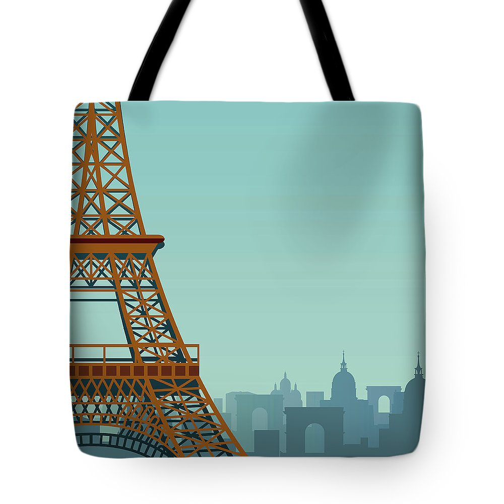 Built Structure Tote Bag featuring the digital art Paris by Drmakkoy