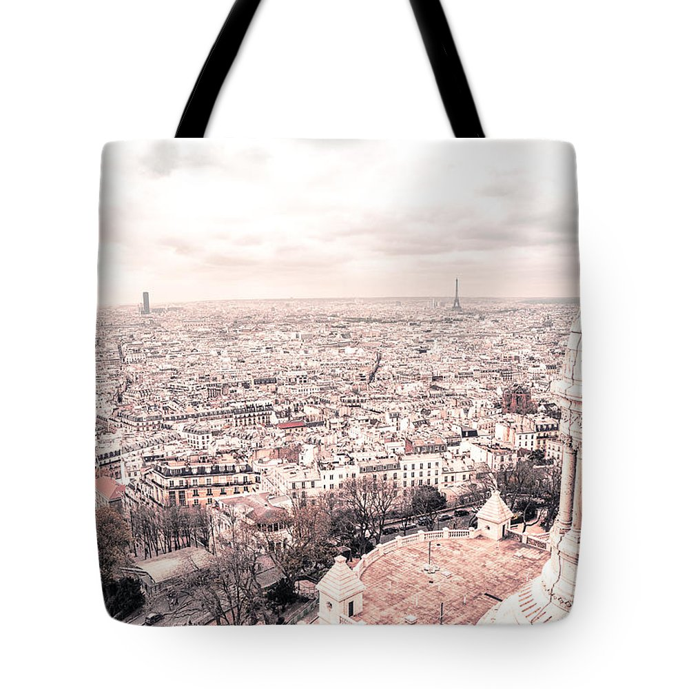 Paris Tote Bag featuring the photograph Paris From Above - View From Sacre Coeur Basilica by Vivienne Gucwa