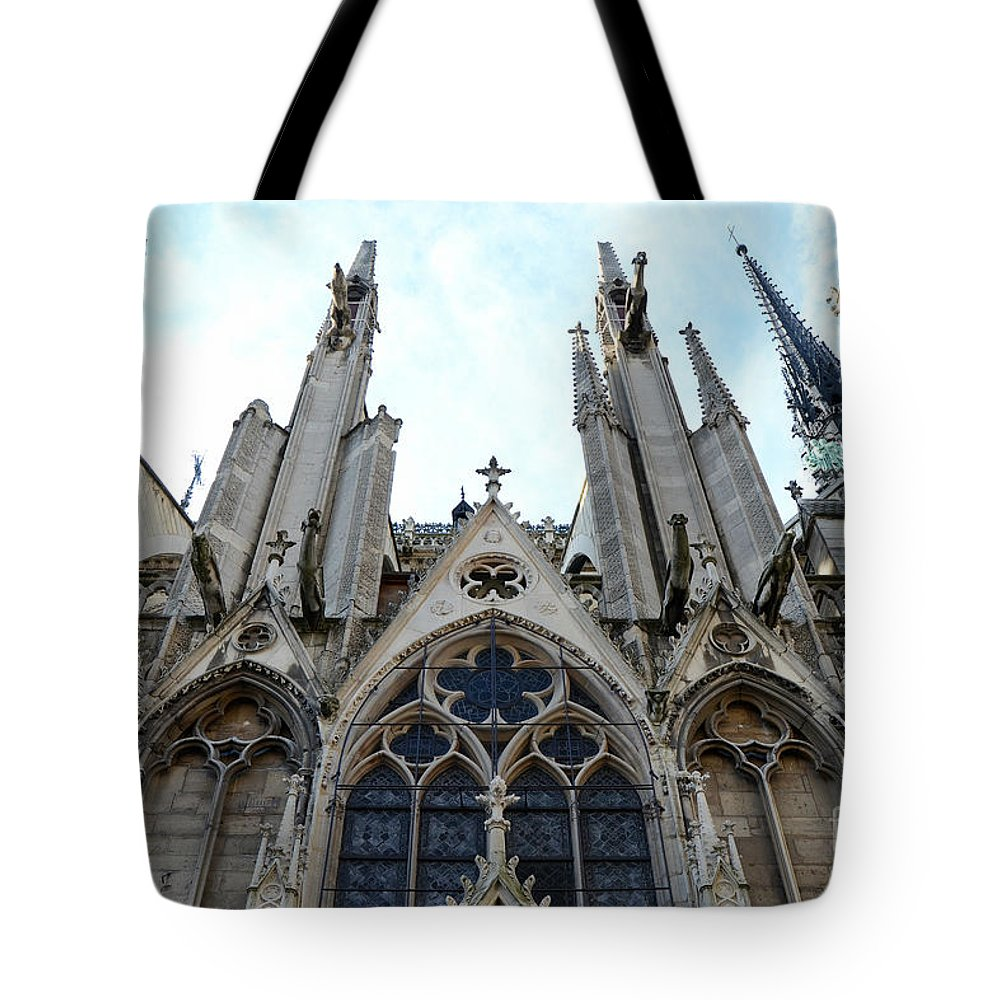 Paris Notre Dame Prints Tote Bag Featuring The Photograph Cathedral