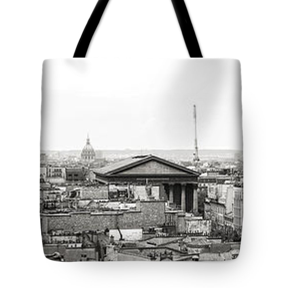 Paris Tote Bag featuring the photograph Paris Panorama by For Ninety One Days