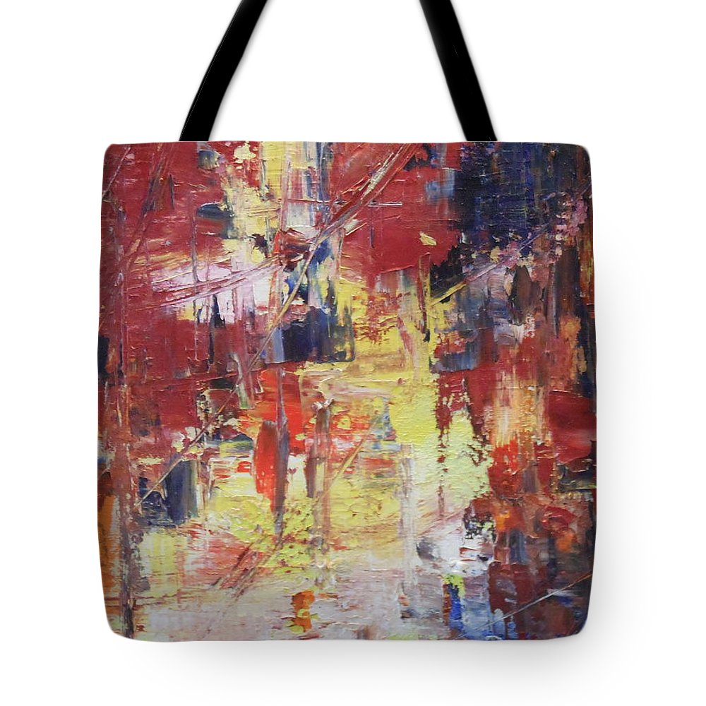 Water Tote Bag featuring the painting Paris Street by Lord Frederick Lyle Morris - Disabled Veteran
