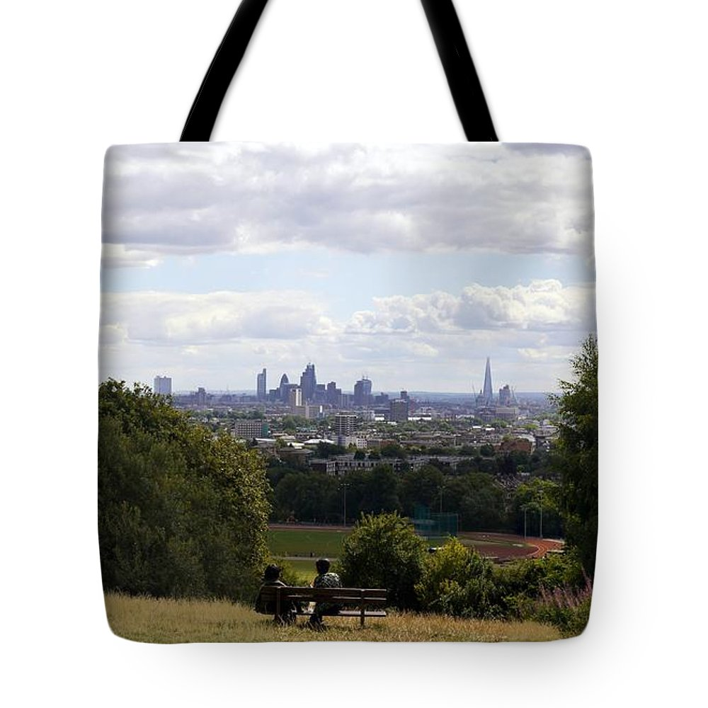 Parliament Hill Fields Tote Bag featuring the photograph Parliament Hill Fields by John Chatterley
