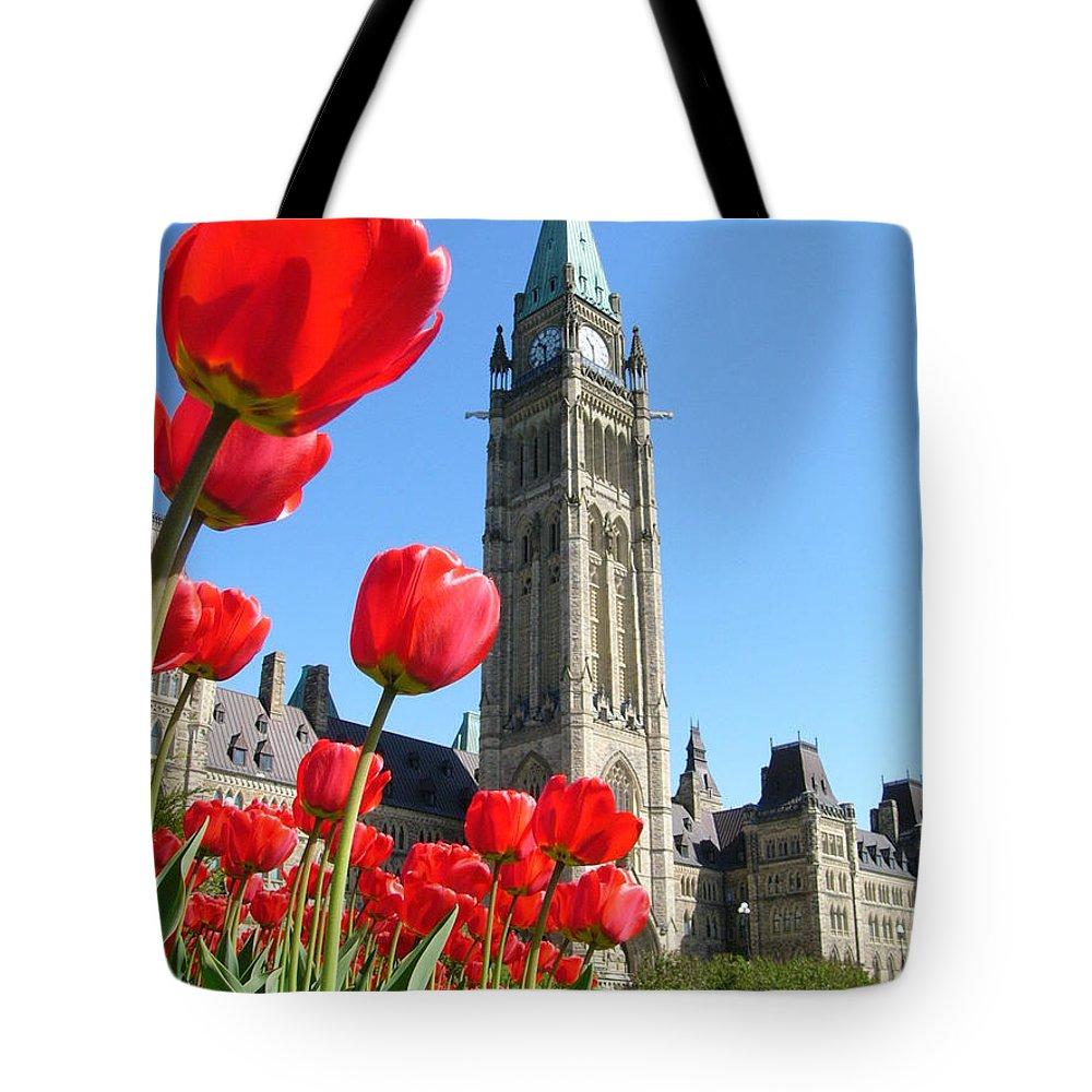 Parliament Hill Tote Bag featuring the photograph Parliament Hill, Ottawa by Hafiz Ashna