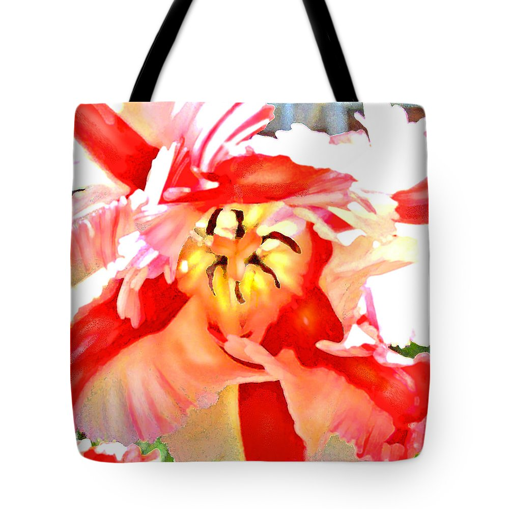Parrot Tulip Tote Bag featuring the digital art Parrot Tulip by Jane Schnetlage