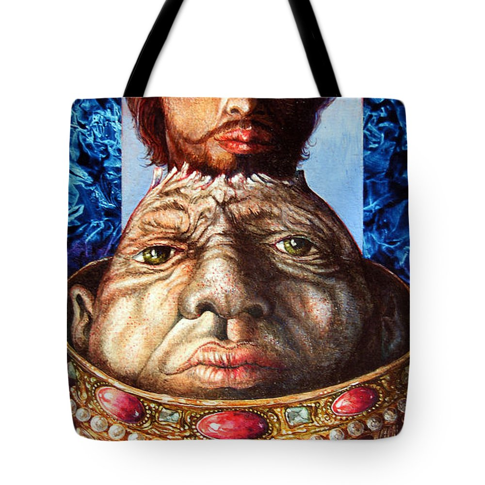 Surrealism Tote Bag featuring the painting Parthenogenesis II by Otto Rapp