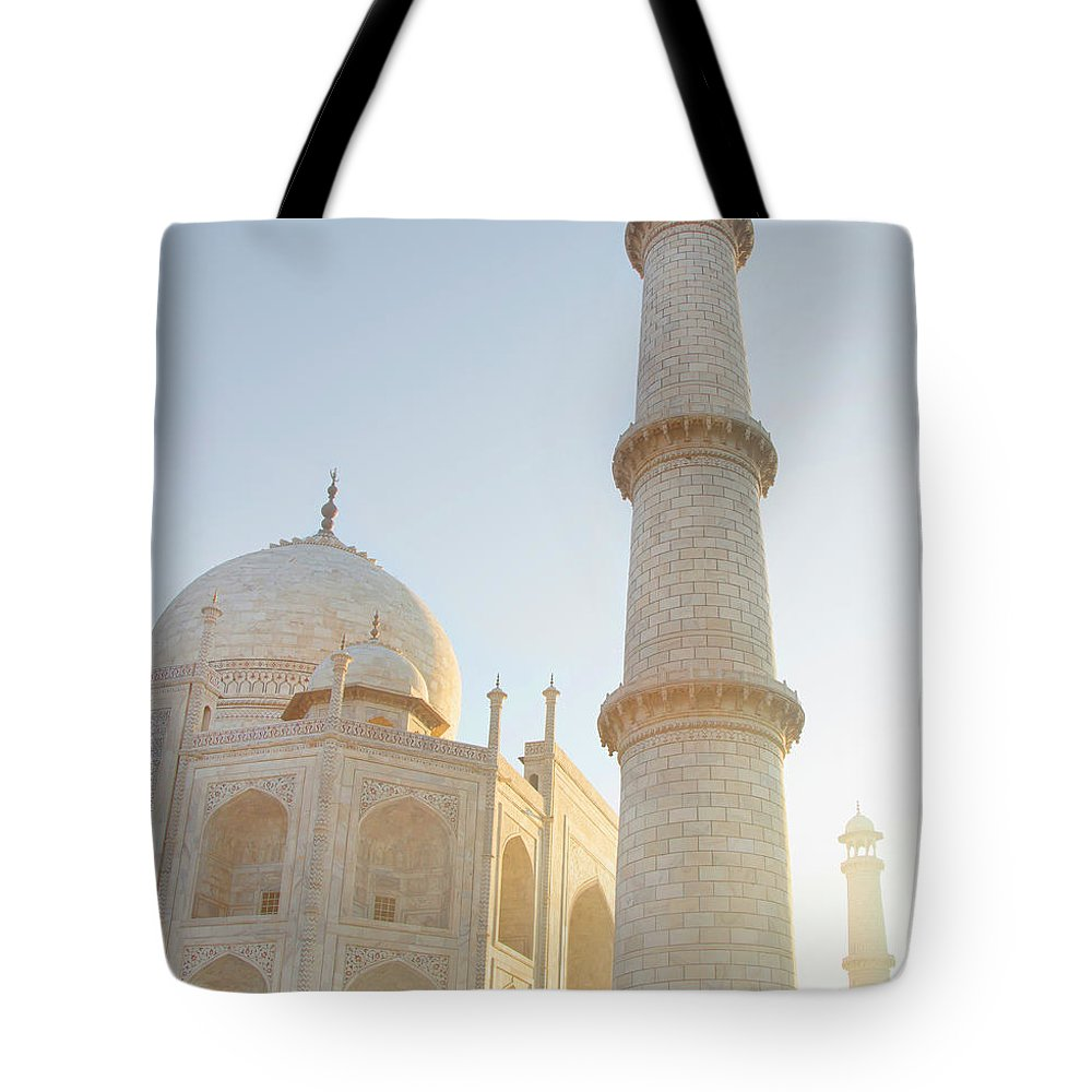 Arch Tote Bag featuring the photograph Partial View Taj Mahal by Grant Faint