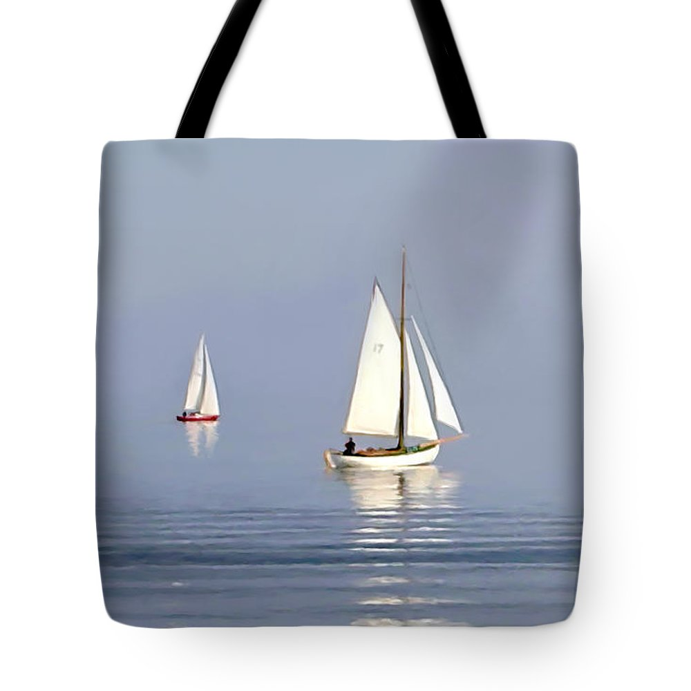 New Tote Bag featuring the painting Parting Fog by Paul Tagliamonte