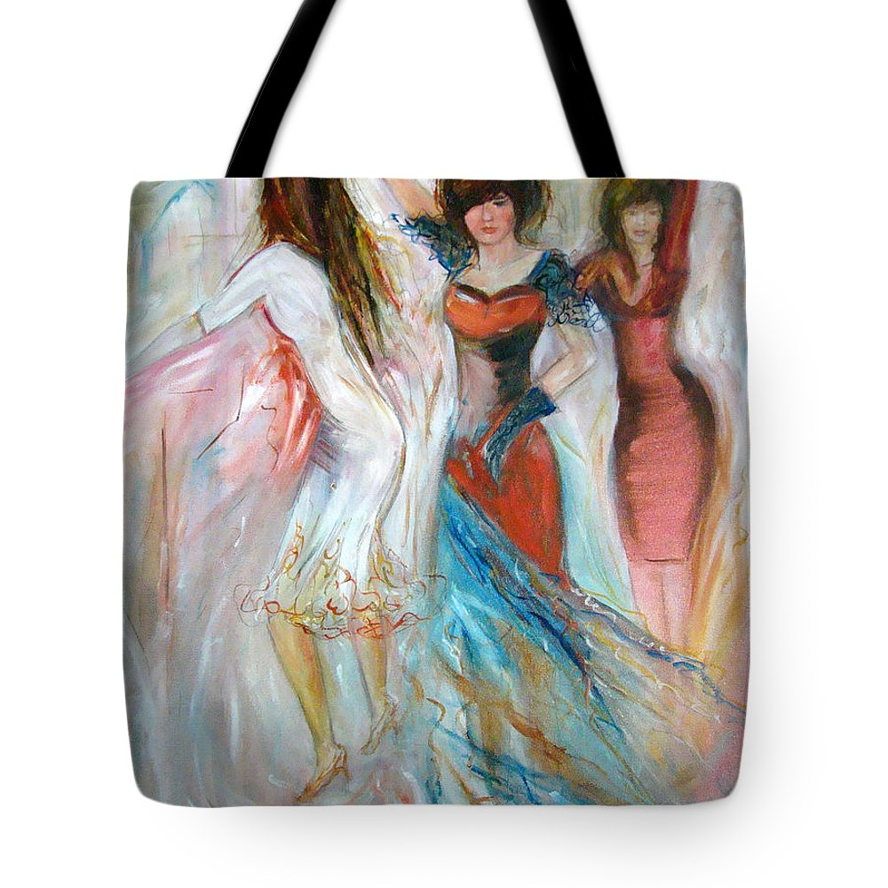 Contemporary Art Tote Bag featuring the painting Party Time by Silvana Abel