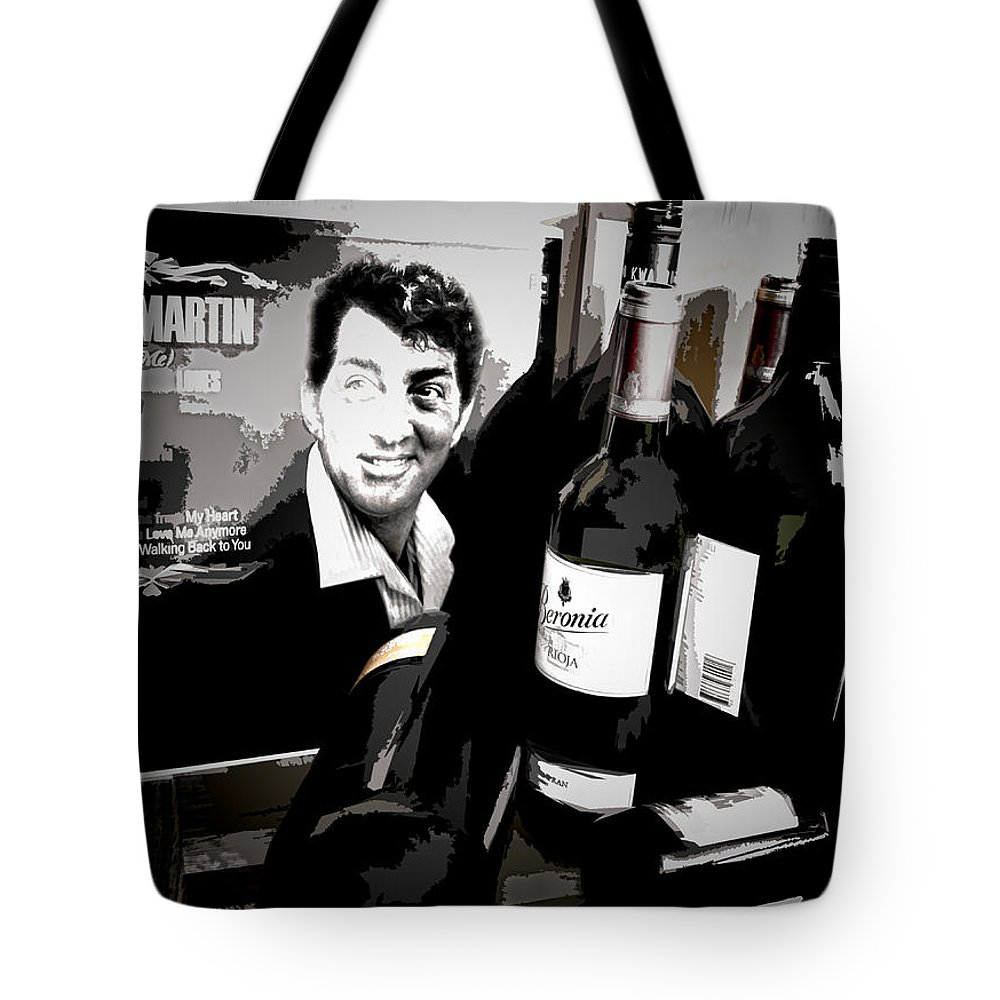 Dean Martin Tote Bag featuring the digital art Partying With Dean by Pennie McCracken