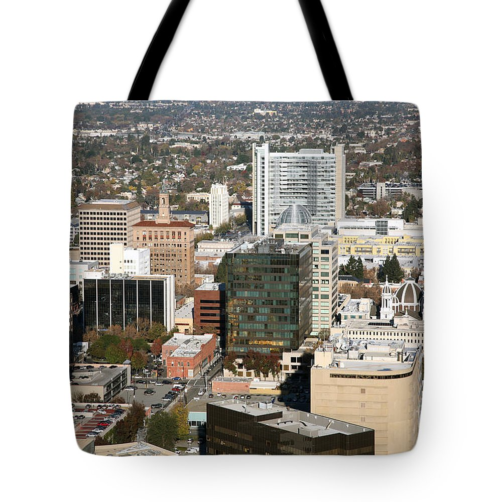 Aerial Tote Bag featuring the photograph Paseo San Jose California by Bill Cobb