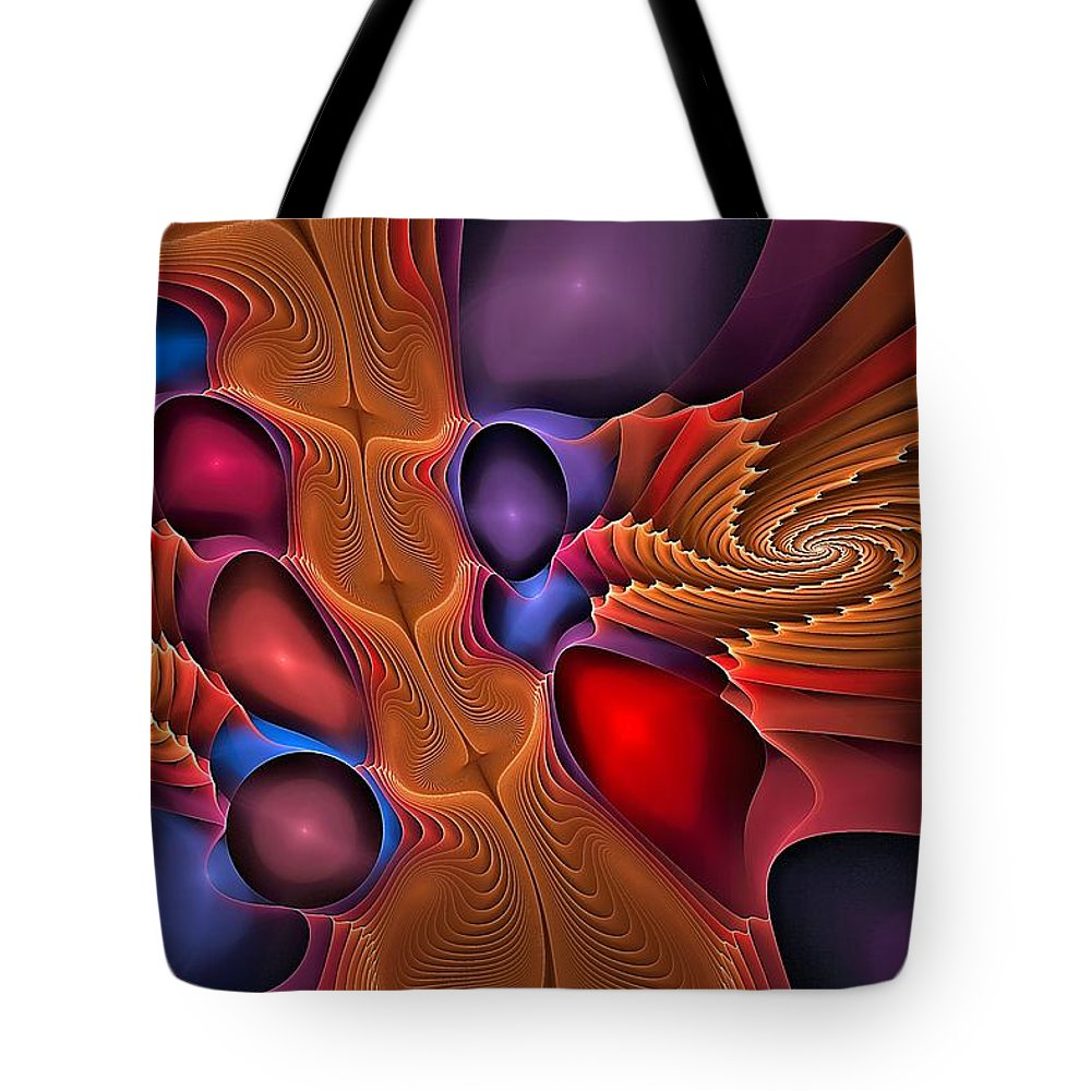 Dance Tote Bag featuring the digital art Pasodoble by Doug Morgan