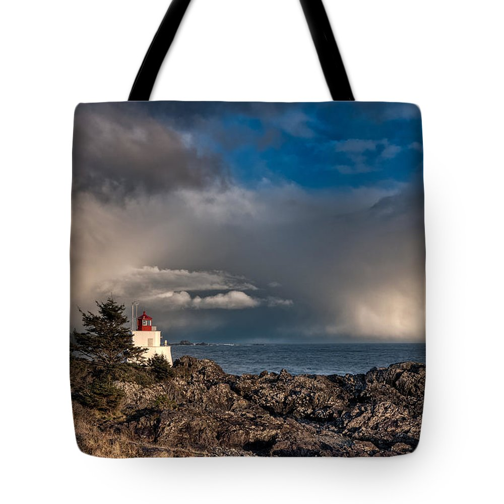 Adventure Tote Bag featuring the photograph Passing Storm by James Wheeler