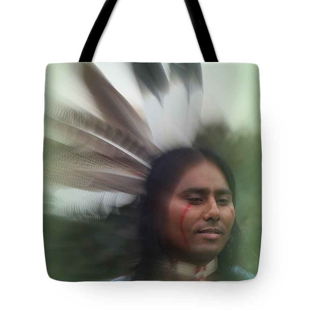 Native American Tote Bag featuring the photograph Passing Through Time by Stephen Willmer