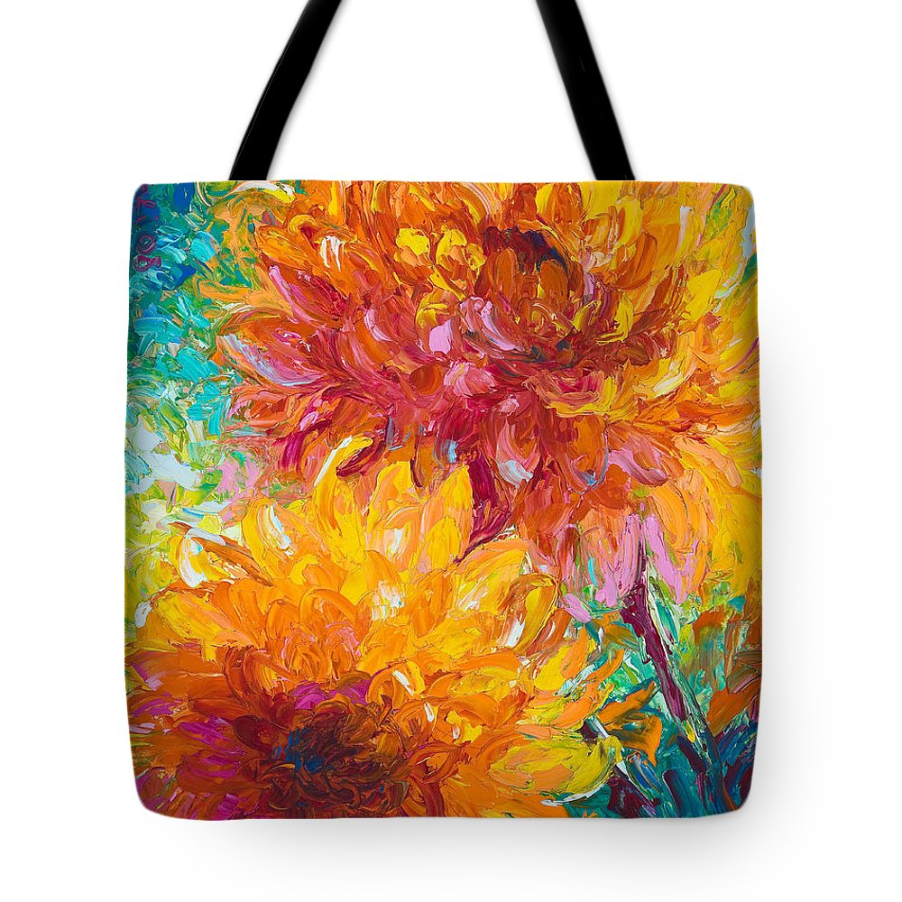 Oil Tote Bag featuring the painting Passion by Talya Johnson