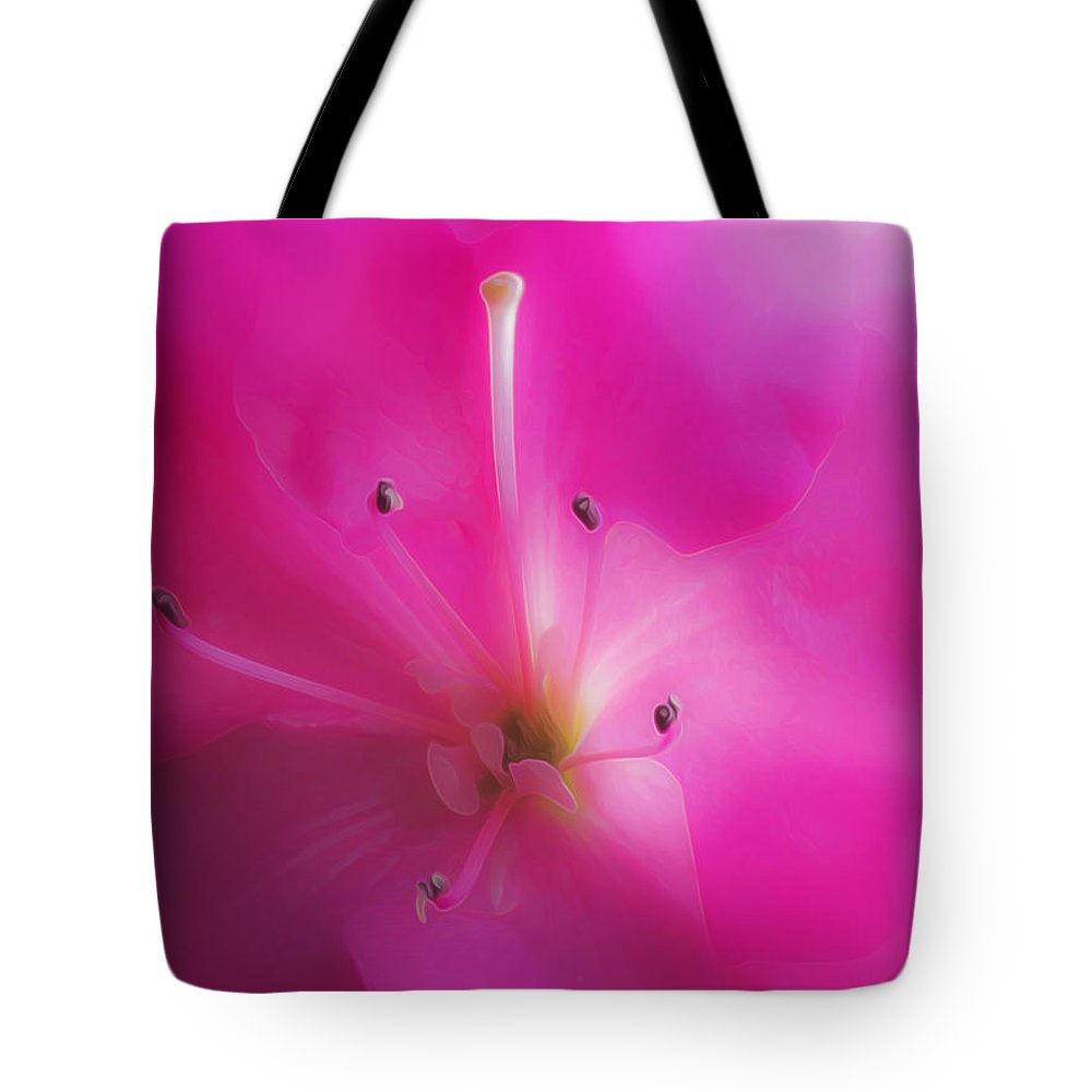 Vibrant Tote Bag featuring the photograph Passionate Azelia by Hal Halli
