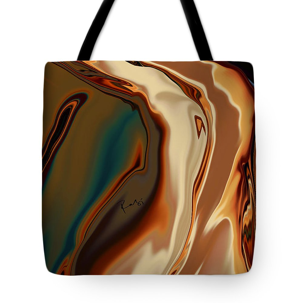 Abstract Tote Bag featuring the digital art Passionate Kiss by Rabi Khan