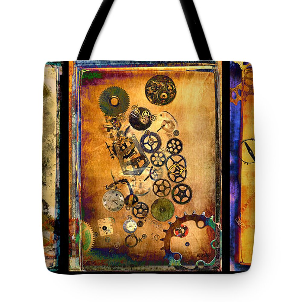 Future Tote Bag featuring the photograph Past-present-future-triptych by Fran Riley