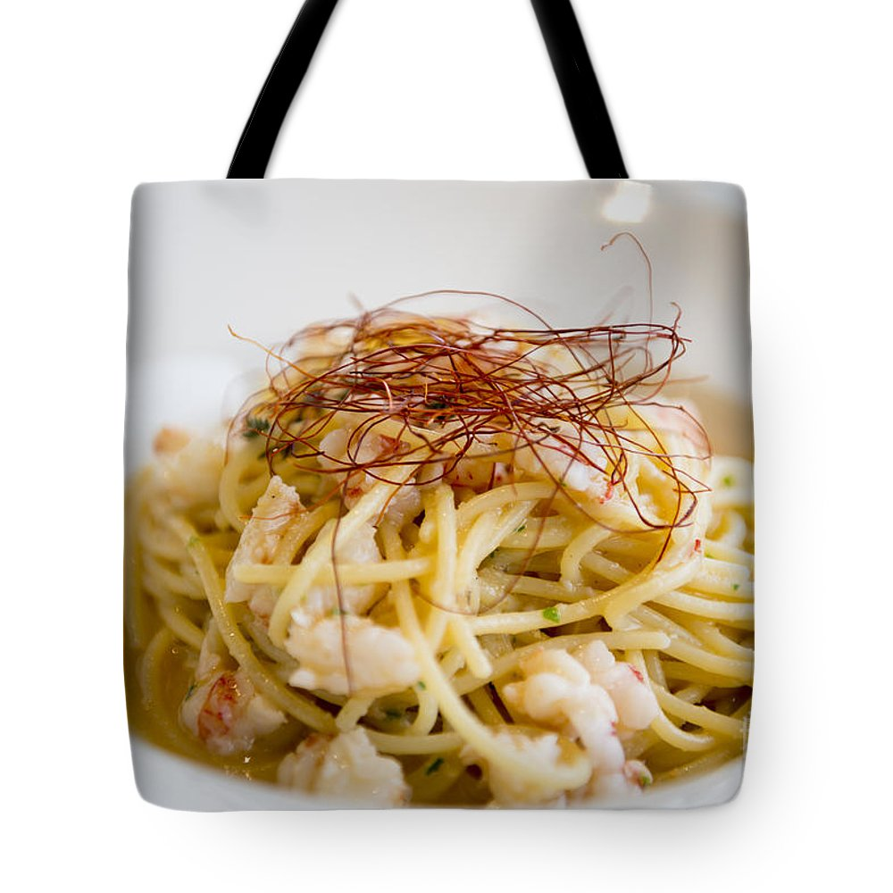 Spaghetti Tote Bag featuring the photograph Pasta Food by Mats Silvan