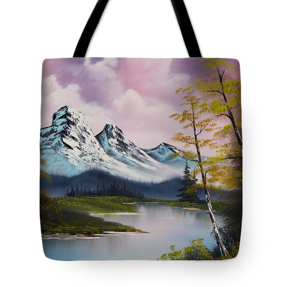 Landscape Tote Bag featuring the painting Pastel Fall by Chris Steele