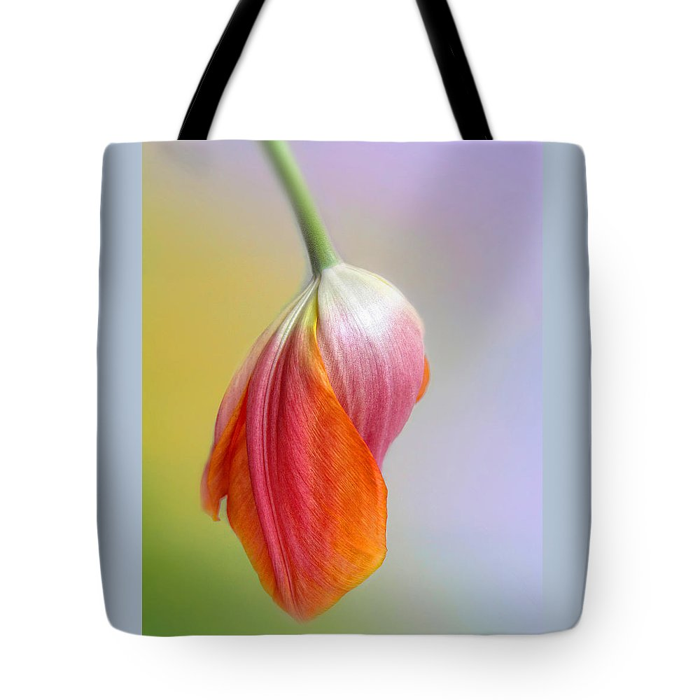 Flower Tote Bag featuring the photograph Pastel Petal by Jessica Jenney