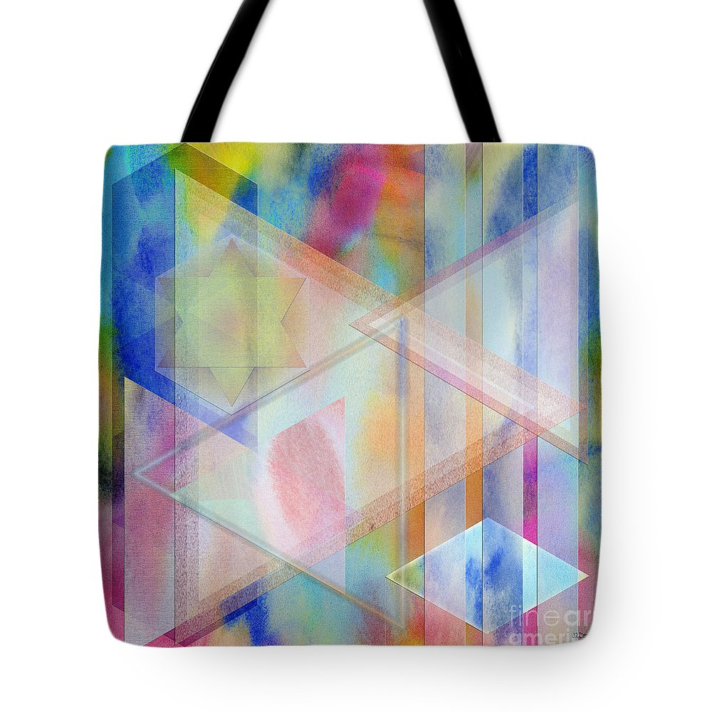 Pastoral Moment Tote Bag featuring the digital art Pastoral Moment - Square Version by John Robert Beck