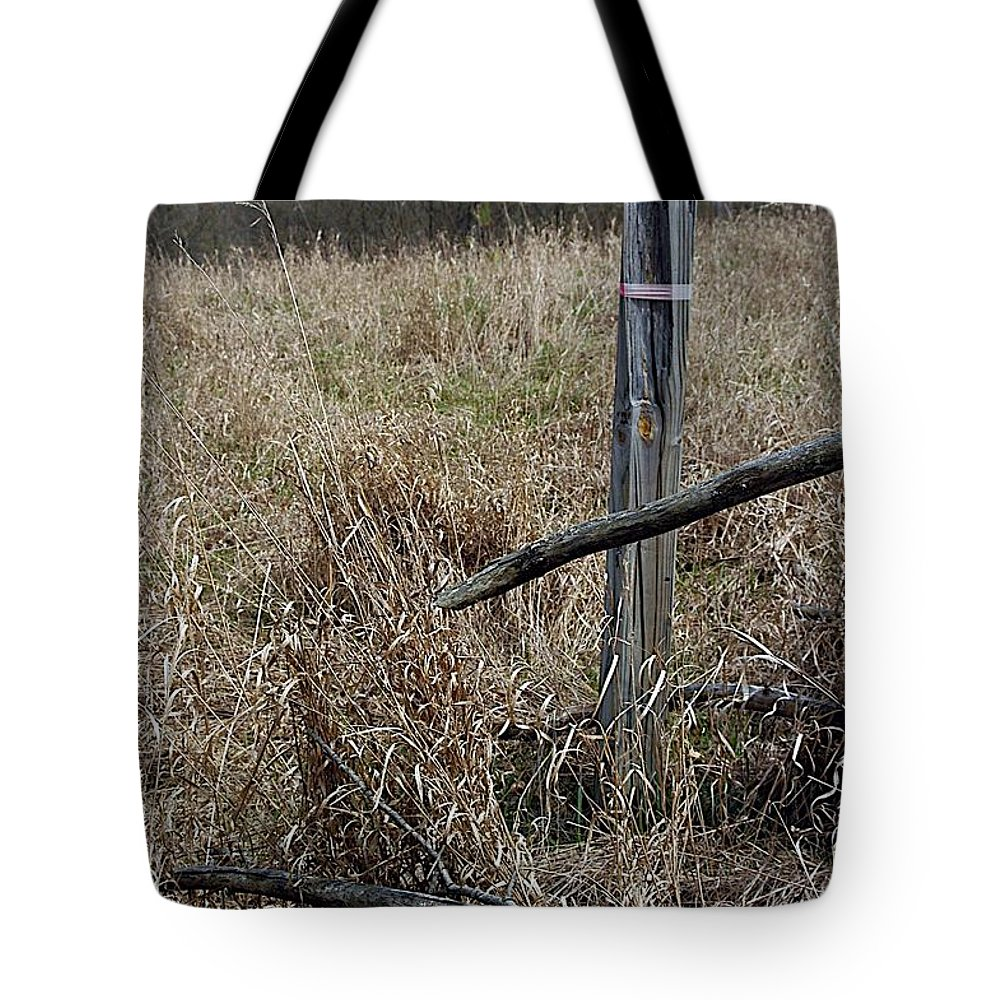 Fence Post Tote Bag featuring the photograph Pasture by Joseph Yarbrough