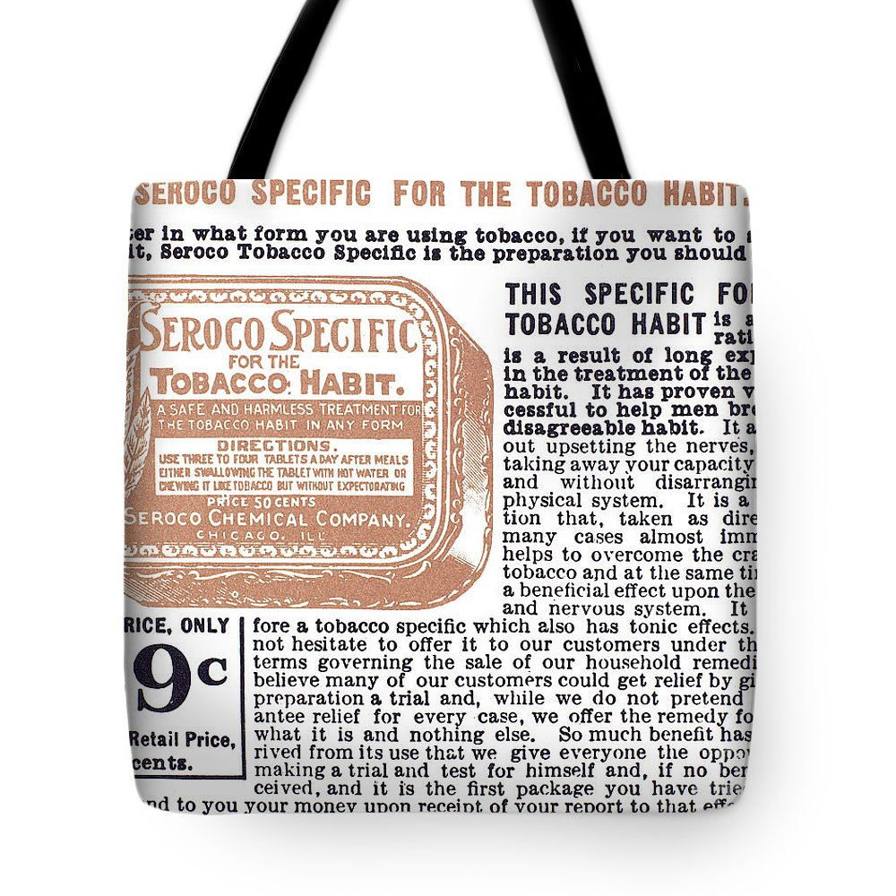 1890s Tote Bag featuring the photograph Patent Medicine Ad, 1890s by Granger