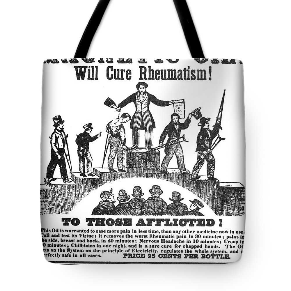 1845 Tote Bag featuring the photograph Patent Medicine Ad, C1845 by Granger