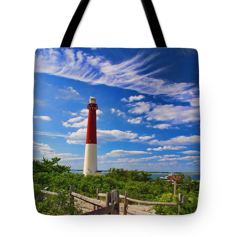 Lighthouse Tote Bag featuring the photograph Path To The Light by Nick Zelinsky