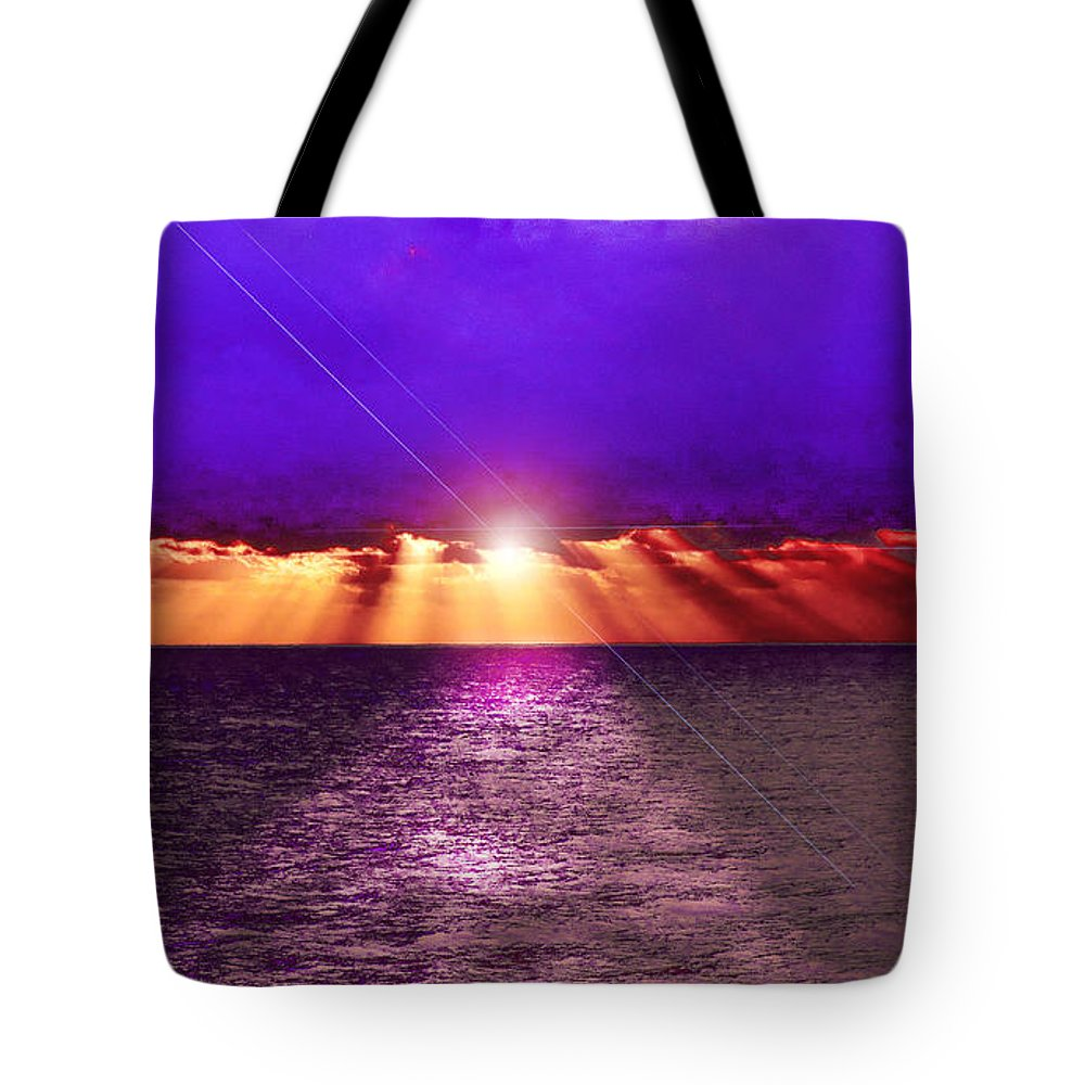 Always Beautiful Tote Bag featuring the photograph Path To The Sun by Judy Hall-Folde