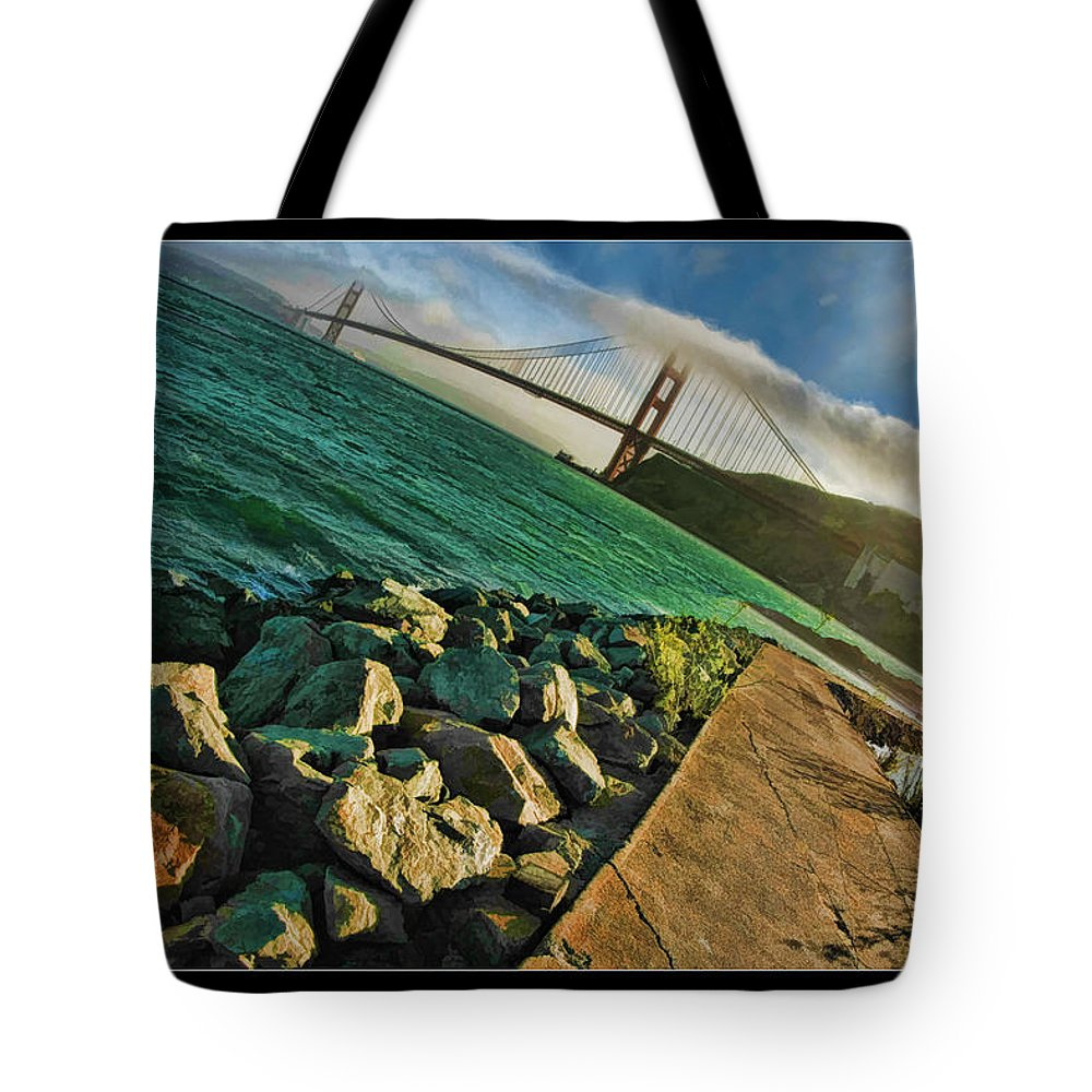 Golden Gate Bridge Tote Bag featuring the photograph Pathway To The Golden Gate by Blake Richards