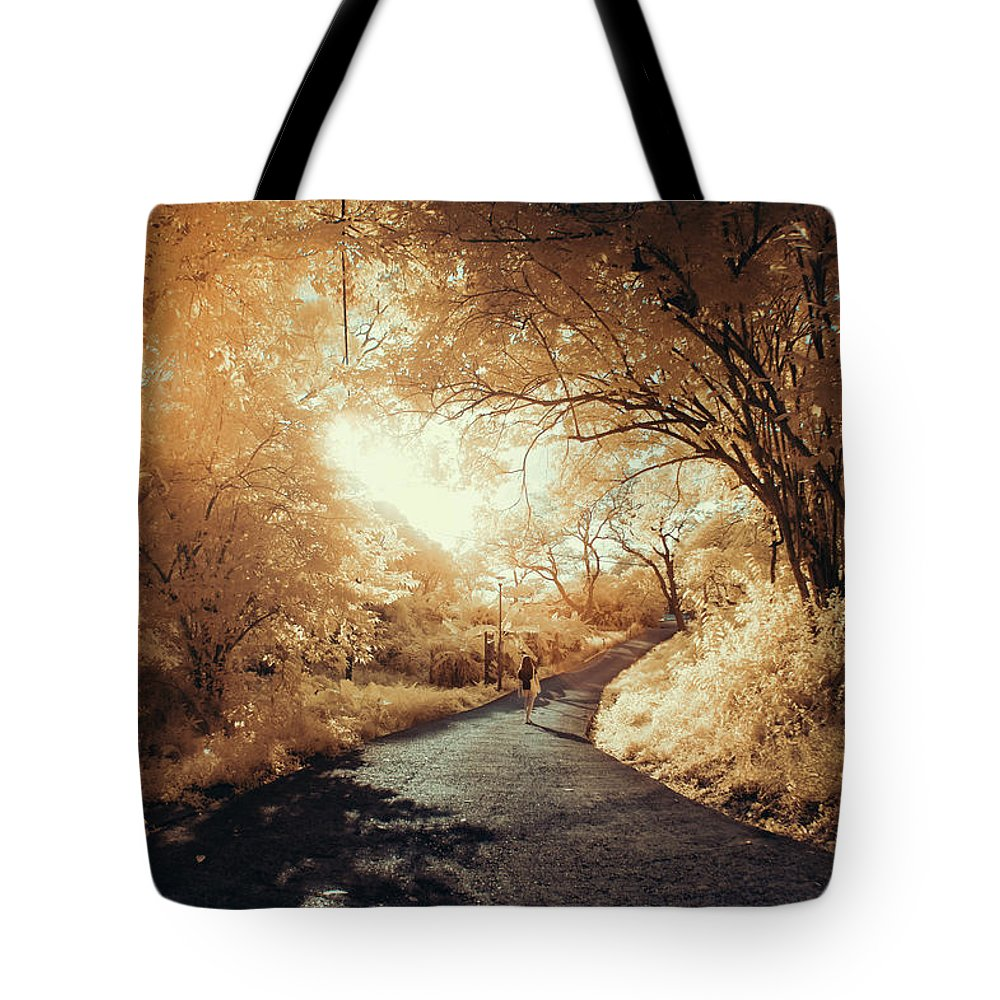 Shadow Tote Bag featuring the photograph Pathway To Wonderland by D3sign