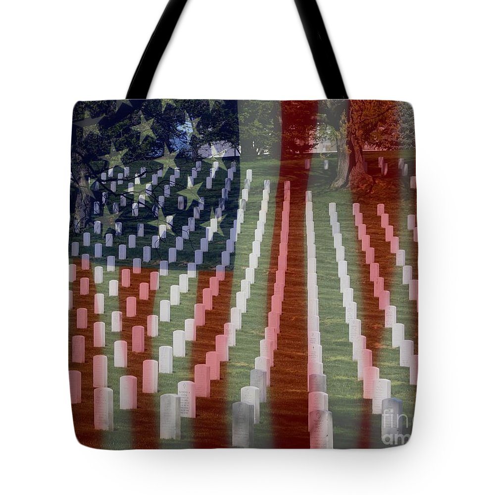 Patriotism Tote Bag featuring the photograph Patriotism by Patti Whitten